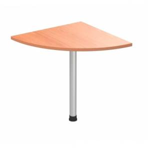 Стол приставной угловой на хромированной ножке